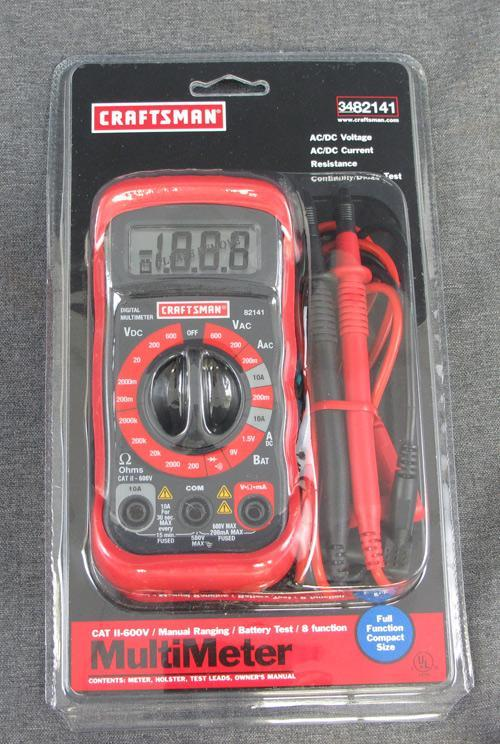 Craftsman Digital Multimeter : New craftsman manual ranging multimeter ac dc nib ebay