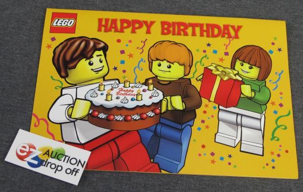 new lego minifig happy birthday card blank inside  greeting  ebay, Birthday card