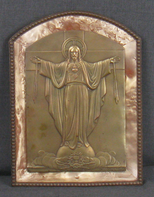 escudero jesus plaque metal on plastic ebay. Black Bedroom Furniture Sets. Home Design Ideas