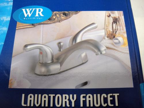 details about new water ridge wr brushed nickel brass lavatory faucet