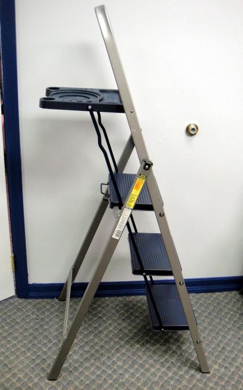 tricam industries skinny mini folding step ladder w. Black Bedroom Furniture Sets. Home Design Ideas