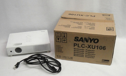 sanyo pro xtrax multiverse media projector plc xu106 in original box ebay. Black Bedroom Furniture Sets. Home Design Ideas