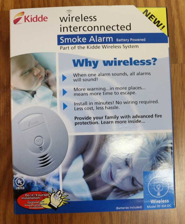 kidde rf sm dc battery powered wireless interconnected smoke alarm new in box. Black Bedroom Furniture Sets. Home Design Ideas
