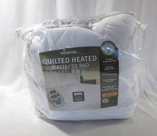 Biddeford Quilted Heated Mattress Pad King Size 2