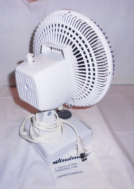 Small Oscillating Fans : Vintage windmere small quot oscillating desk fan speed