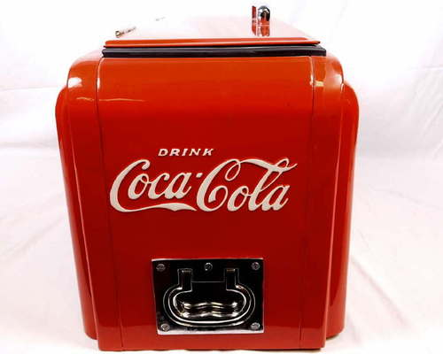 vintage 1938 art deco westinghouse 39 half junior 39 coke coca cola ice chest cooler ebay. Black Bedroom Furniture Sets. Home Design Ideas