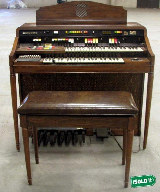 Vintage hammond ss1 sound simulator organ bench lots of for Classic house organ sound