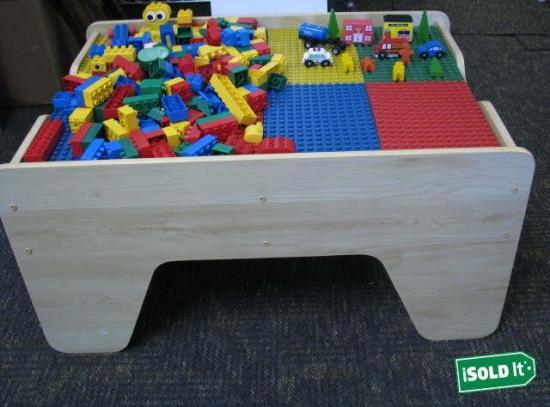 cml kids craft childs lego train table reversible assembled legos blocks. Black Bedroom Furniture Sets. Home Design Ideas
