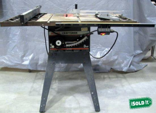 Sears craftsman 3hp 10 belt drive table saw cast iron w for 10 cast iron table saw