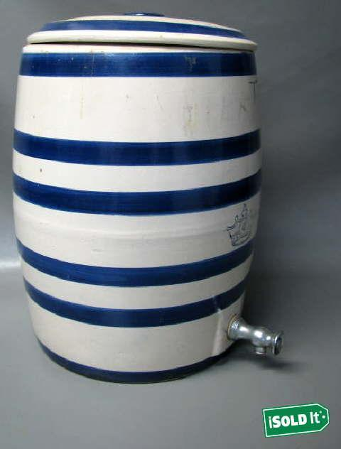 Antique Crown 4 Gallon Stoneware Water Jug Cooler Crock