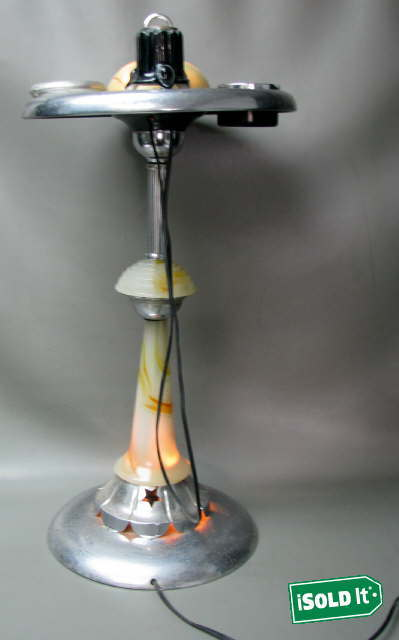 Vintage Floor Ashtray Smoking Stand Working Lighter Light