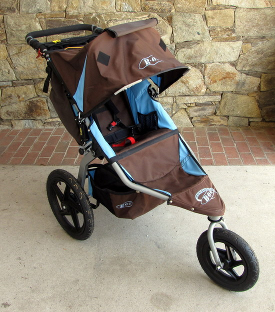 2009 bob revolution se single stroller brown blue with infant car seat adapter ebay. Black Bedroom Furniture Sets. Home Design Ideas