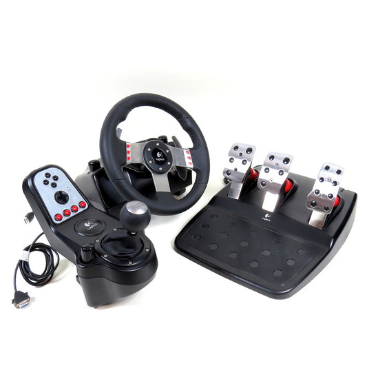logitech g27 gaming racing steering wheel with pedals. Black Bedroom Furniture Sets. Home Design Ideas