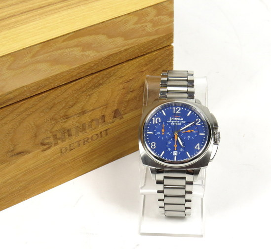 Shinola argonite 5030 the brakeman chrono men 39 s watch 6 5 stainless band for Argonite watches