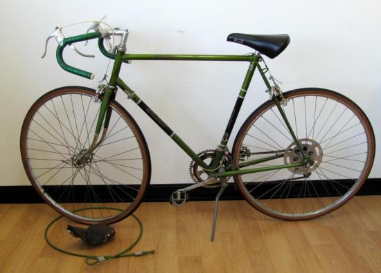 VINTAGE MENS RALEIGH GRAND PRIX BICYCLE BIKE 10-SPEED 59CM + WRIGHTS SEAT