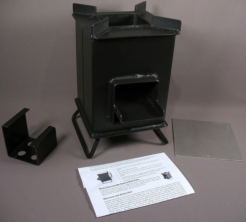 Heavy duty grover rocket stove w acc camping survival made for Heavy duty rocket stove