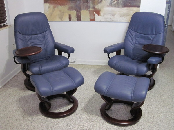 buy these used ekornes stressless recliner chair leather. Black Bedroom Furniture Sets. Home Design Ideas