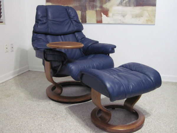 ekornes stressless recliner chair modern leather small tampa paloma blue table ebay. Black Bedroom Furniture Sets. Home Design Ideas