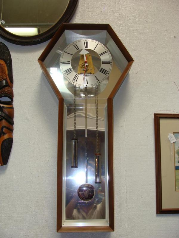 howard miller vintage mid century modern wall clock george