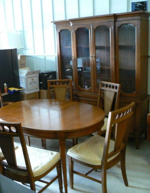 nice used bassett dining room set table chairs cabinet ebay used dining room sets for sale heather bates design