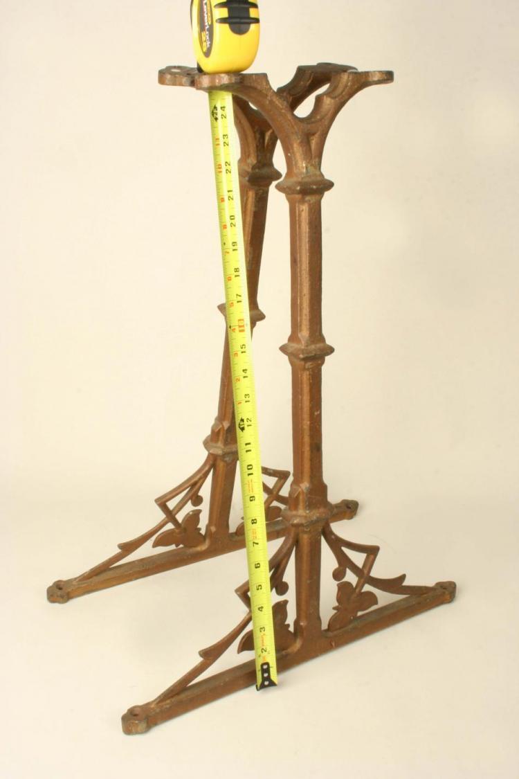 Decorative cast iron table base legs art nouveau ebay - Decorative metal table bases ...