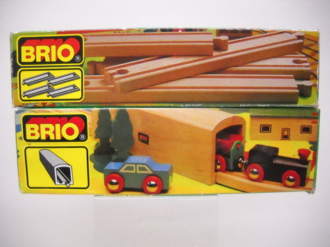 brio vintage wooden railroad train sets tunnel 33362 track 4 straight pieces ebay. Black Bedroom Furniture Sets. Home Design Ideas