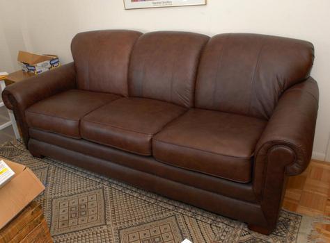La-Z-Boy Mackenzie Brown Leather Queen Sleeper Sofa Couch,EX Cond. P/U NJ | eBay