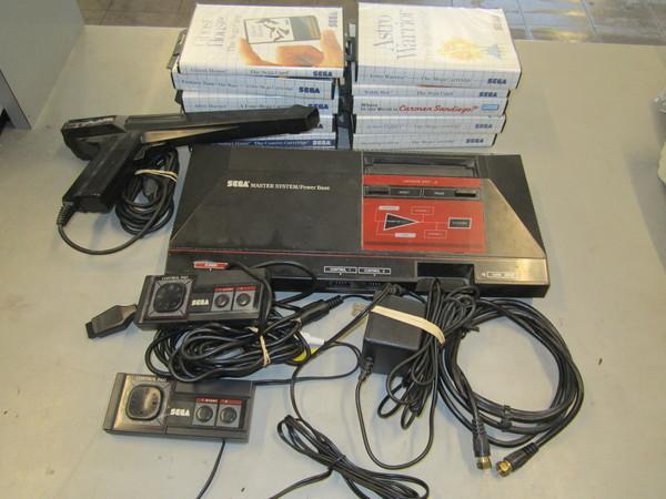 Sega master system video game lot 2 controllers 1 phaser 10 games ebay - Sega master system console for sale ...