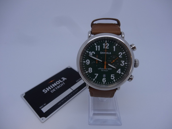 Shinola argonite chrono argonite 5021 47mm green face detroit 1004867 16 ebay for Argonite watches