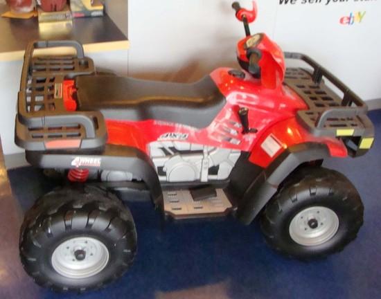 peg perego polaris sportsman 4 four wheeler quad red ride. Black Bedroom Furniture Sets. Home Design Ideas