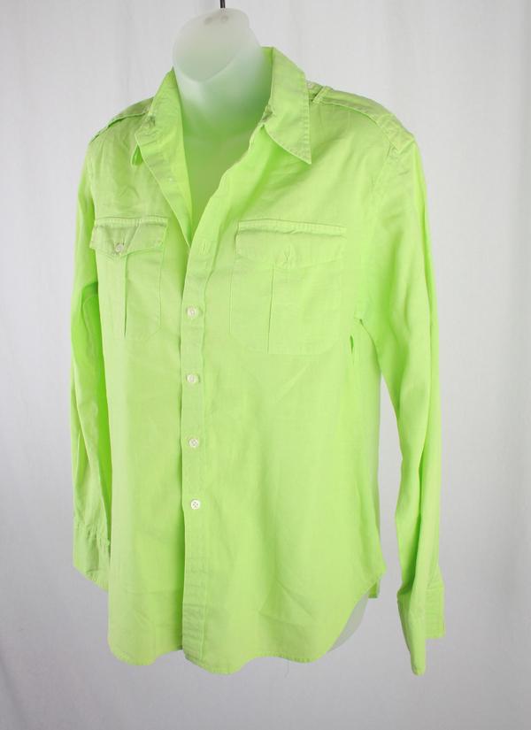 Ralph Lauren Women's Light Green Button Down Shirt Top SZ 8 ...