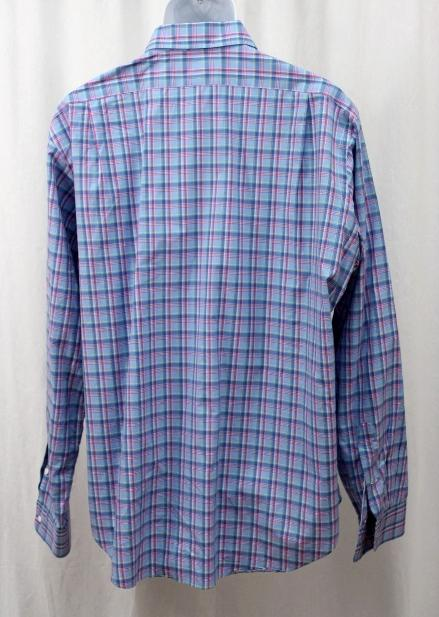 Mens polo ralph lauren pastel blue pink multi check button for Pastel pink button down shirt