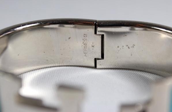 Hermes turquoise silver clic clac h bracelet pm ebay - Housse clic clac turquoise ...