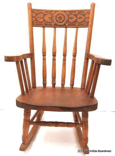 Antique Oak Child 39 S Rocking Chair Early 1900s