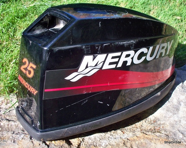 Early 2000 39 s mercury 25 hp outboard motor engine cover for Ebay used outboard motors for sale