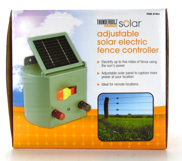 Electric Fence Control Panel : New thunderbolt magnum adjustable solar electric fence