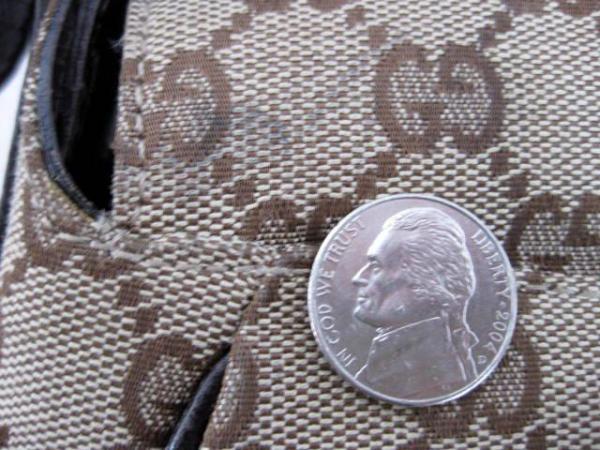 gucci dark brown  u0026quot gg u0026quot  logo monogram canvas medium horsebit shoulder bag purse