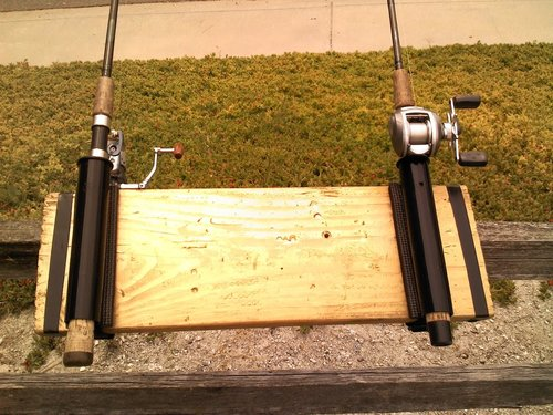 Pier dock fishing rod holder spinning or casting rods for Best pier fishing rod