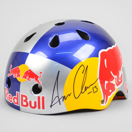 sixsixone red bull signed team helmet aaron chase bike. Black Bedroom Furniture Sets. Home Design Ideas