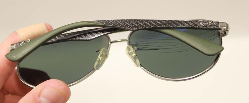 Repairing Bent Glasses Frames : Broken AS IS RAY BAN Polarized RB 8313 Mens Sunglasses ...