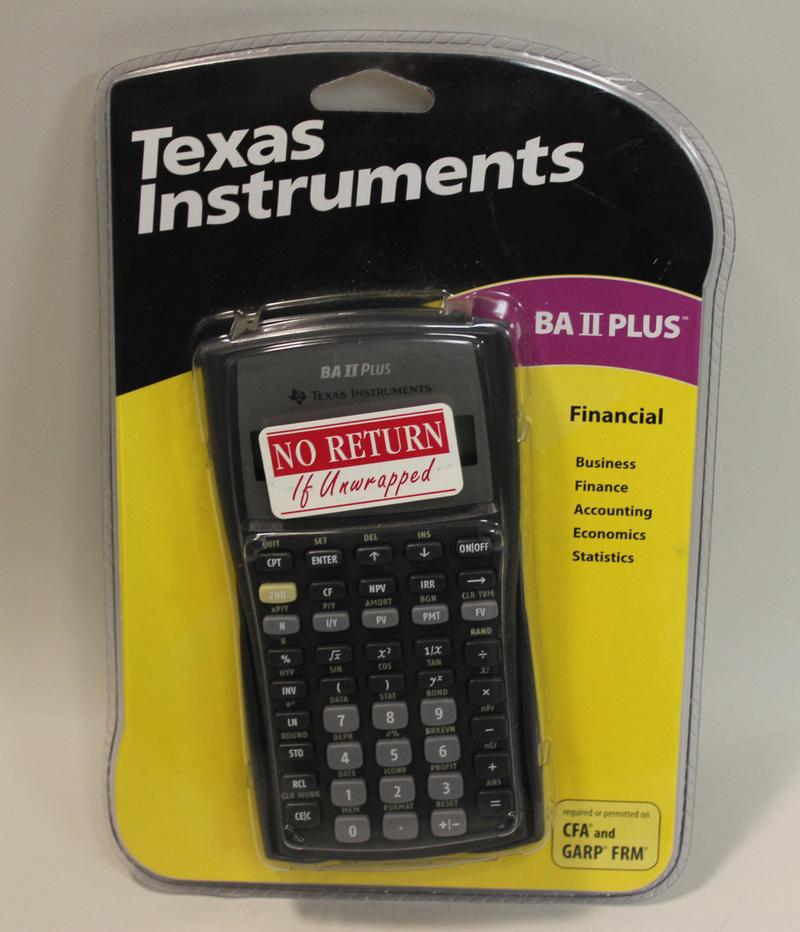 new texas instruments ba ii plus financial calculator cfa garp frm 033317071784 ebay