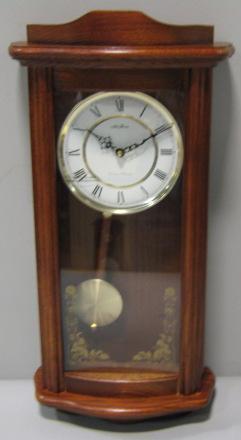 seth thomas wok 7082 honey oak pendulum wall clock