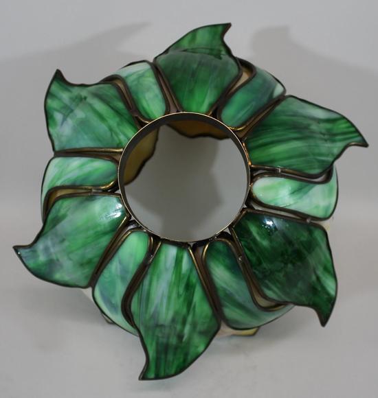 Lrg antique 19thc art nouveau shaped leaded slag glass - Flower shaped lamp shades ...