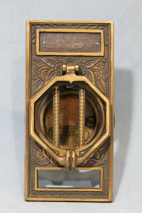 Antique prohibition barroom speakeasy speak a view peephole door knocker ebay - Peephole door knocker ...