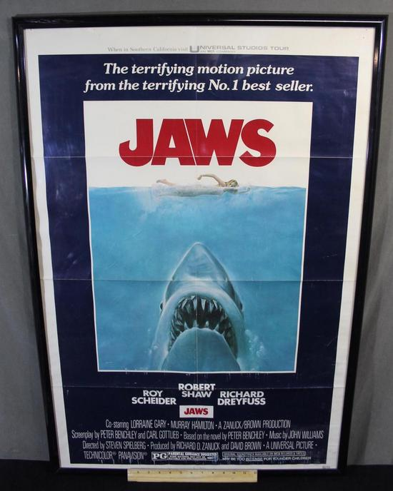 1975 Universal Pictures *JAWS* One Sheet Movie Theater ...