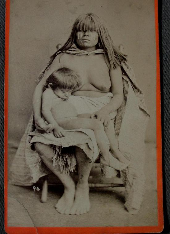 Vintage Nude Native American Indian Women