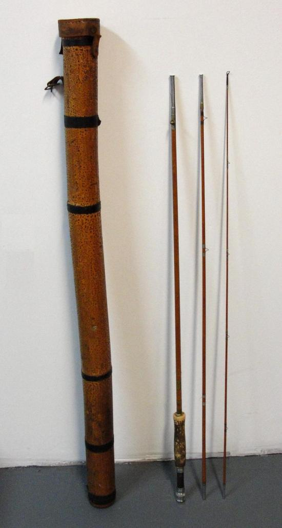 antique split bamboo shakespeare 1362 9 fishing rod pole