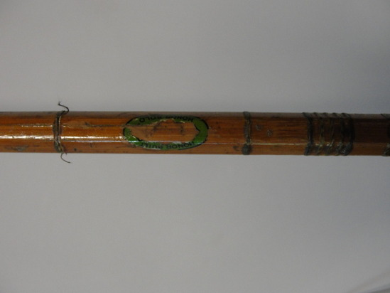 Antique split bamboo shakespeare fishing rod pole