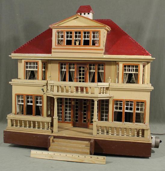 rare large antique moritz gottschalk german red roof wood. Black Bedroom Furniture Sets. Home Design Ideas