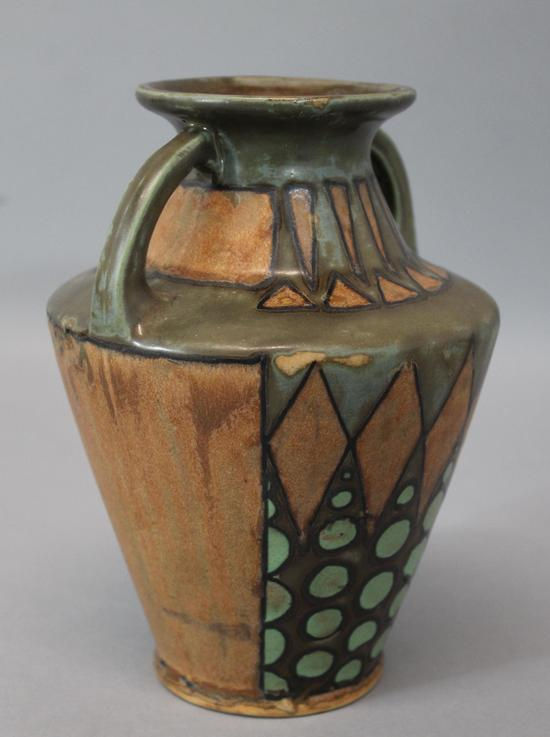 Antique signed odetta art deco quimper art pottery vase for Decoration maison quimper